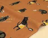 Japanese Fabric Bad Boy Cat canvas - terracotta - 50cm
