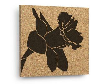 DAFFODIL FLOWER Mix & Match Floral Cork Decor Art Tiles Or Kitchen Trivet - Wall DéCork