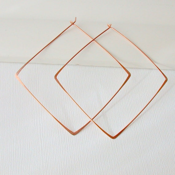 X Large Square Hoops. Extra Large Hoops. Gold fill Square Hoops. Sterling Hoops. Rose gold hoops.