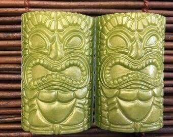 Tiki Soap, Hawaiian Bar Soap, Tropical Decor Soap, Vegan Soap, Hawaiian Soap,  Hawaiian Soap Vegan, Ocean Decor Soap,  Handmade Soap 2 Pack