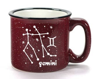 Gemini Zodiac Constellation Mug - Choose Your Cup Color