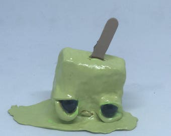 Lenny the melting lime popsicle free shipping ooak art doll