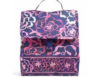 New Vera Bradley lunch, Katalina Pink Lunch Sack, Monogrammed lunchbag, personalized lunchbox, Retired pattern