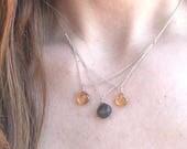 Best Seller Triple V Necklace- hessonite and moonstone
