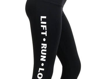 ON SALE Lift---Run---Love Crop Leggings SALE
