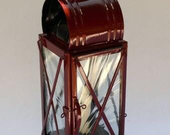 Brady's Heavy Duty Lantern - Red with regular glass