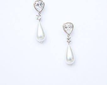 5 *SET DEAL* Wedding Earrings Bridal Earrings Pearl Earrings Vintage Inspired Pearl Drop Earrings Cocktail Earrings