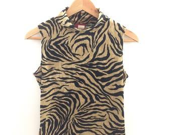Vintage Velour Zebra Top