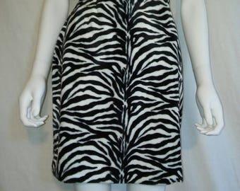 Closing Shop Sale 45% off 90's zebra Animal print skirt, Soft furry fuzzy animal print skirt    size 2