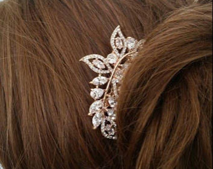 Rose Gold Bridal Hair Comb