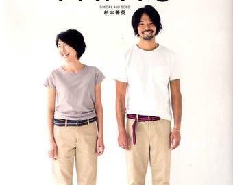 MENS PANTS by Sunday and Sons - Japanese Craft Book
