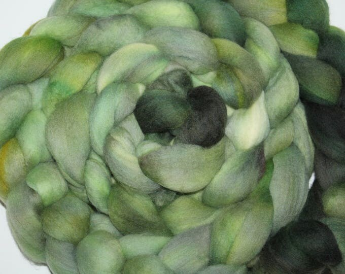 Kettle Dyed Merino Wool Top. Super fine. 19 micron  Soft and easy to spin. Huge 1/2lb Braid. Spin. Felt. Roving M323