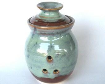 Garlic Keeper Storage Jar - Ponderosa Glaze