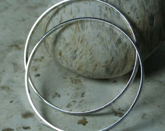 Extra large silver plated O ring 55mm outer diameter, 3mm wide, 1mm thick, 2 pcs (item ID BBSP55-D)