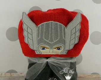 Kid's Hooded Towel - Thunder Hero Thor Hooded Towel - character inspired Thor towel for Bath, Beach or Swimming Pool