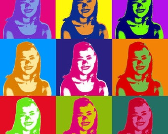 Custom Pop Art in Warhol Style Using Your Photo! Great Gift Idea! Custom Size! Digital Delivery for Self-Printing