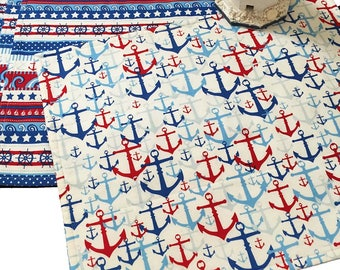 Coastal Placemats, Nautical Placemats, Anchor Placemats, Set of 4 Placemats