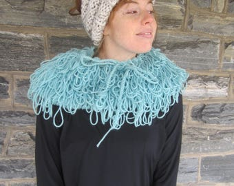 SHAGGY COWL, Fringe cowl,  Crochet scarf, Infinity scarf, infinity scarf, crochet infinity scarf, loop scarf, circle scarf, winter scarf