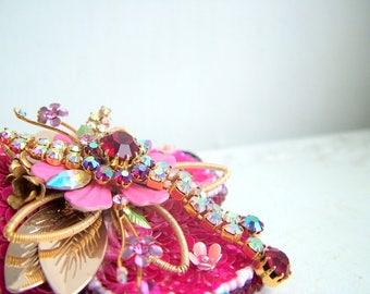 Deep Blush- One of a kind hairband- Ready to ship xx