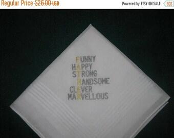 ON SALE Father's Day Handkerchief hankie hanky #190 Daddy, Dad, Father, Pop, Pops,