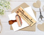 1.5x4 or 4x1.5 Custom Sized Wood Mounted Rubber Stamp Your logo, art,or idea. Business Stamp Wedding Stamp Paper Crafting Stamp Personalized