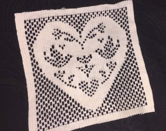 Vintage Valentine's Day Heart Doily