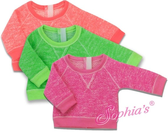 Neon Slouchy Sweatshirt - 18 Inch Doll Clothes