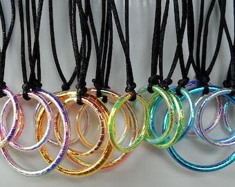 Hula Hoop Necklace Hula Hoop Jewelry Hula Hoop Charm Necklace
