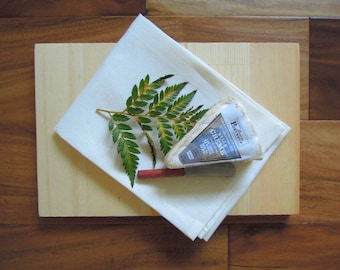 Wooden Tray Gift Set, Hostess Gift, Housewarming Gift, Cheeseboard Gift Set, Linen Tea Towel, Vintage Knife