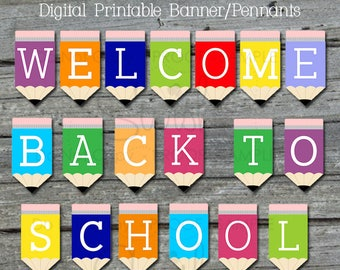 Welcome Back Printable Banner| Back to school Sign | Teacher Welcome | Teacher Appreciation | Digital Download | Instant Download
