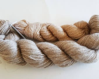 Silk/Cashmere and Silk/Camel Hair Handspun Yarn