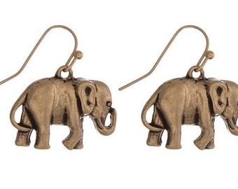 Goldtone Elephant Earrings