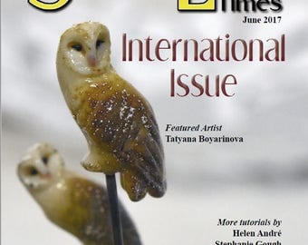June 2017 Soda Lime Times Lampworking Magazine - International Issue - (PDF) - by Diane Woodall
