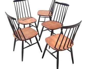 Vintage Danish Modern Windsor Dining Chairs- Set of 5