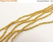 SHOP SALE 2mm Rounded Saucer Gold Vermeil over Sterling Silver Shiny Rondelle Spacer Beads (50 beads)