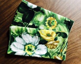 Vintage Floral Cloth Napkins