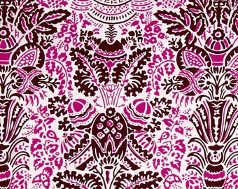 FAT QUARTER - Jennifer Paganelli Fabric, Color Brigade, Stephanie, Maroon, Pink, Brown, cotton quilting fabric