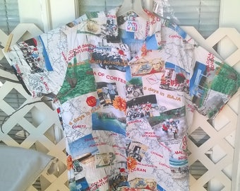 Jams World Shirt, 6 days in Baja, Malcomb Smith Adventures, Motocross Theme Photo Shirt, sz L