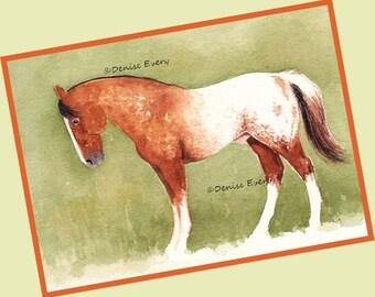 Sorrel Appaloosa Snowcap Colt Horse Art Horse Print Equine Art Appaloosa Horse Gift Appaloosa Horse Lover Gift Horse Decor Horse ACEO Print