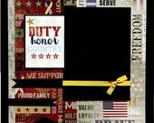 12 x 12 vorgefertigten militärischen Scrapbook Seite - Pflicht zu Ehren Land