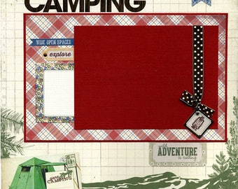 Gone Camping - 12x12 Premade Scrapbook Page