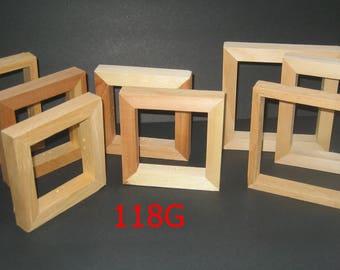8 open face box frames