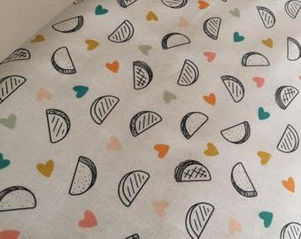 DayTrip fabric, Taco Fabric, Cute Taco, Kids or Baby quilt, Cactus Party Wedding, Art Gallery fabric, Taco Love Light, You Choose the Cut
