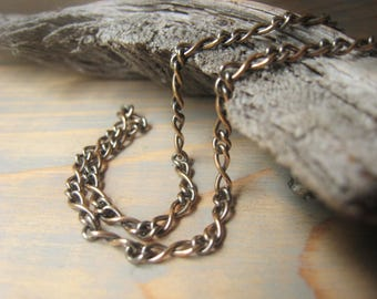 Antique Gold Chain Necklace Bronze Chain Necklace Unisex Chain For Him For Her Item No. 5063