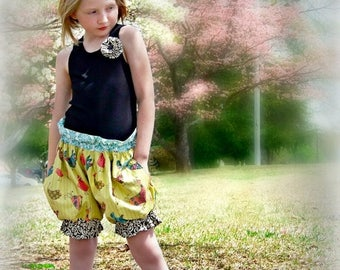 SALE How To Make Puffer Shorts Sewing Pattern 3 months -16 girls PDF Instant