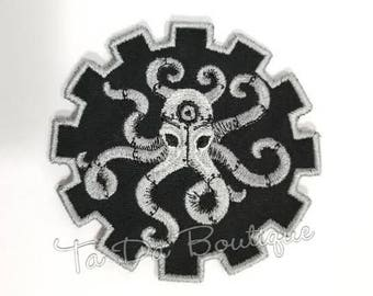 Steampunk Octopus Gear Patch