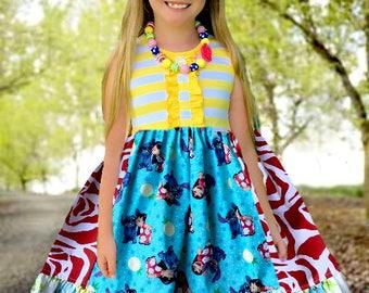 LILO and Stitch Hawaiian resort Disney Aulani vacation clothing Momi boutique custom dress