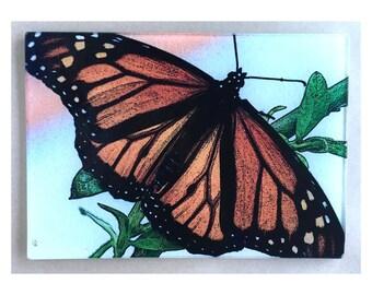 Monarch Butterfly,Monarch art , Monarch glass cutting board,butterfly glass, glass trivet,Monarch gift,Butterfly gift glass cutting board