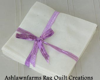 Unbleached Muslin, Cotton Fabric Squares, Rag Quilt, Traditional Quilting, you pick size & quantity, We Cut You Sew