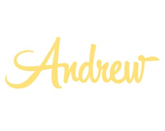 Custom Andrew sign 28 inches wide